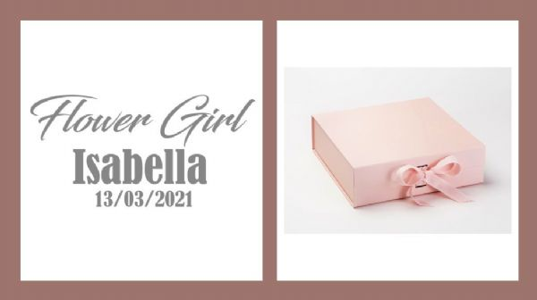 Flower Girl Large Luxury Personalised Gift Box